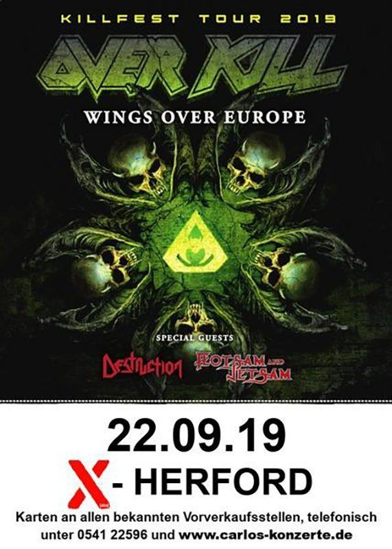 22-09-2019 Overkill Killfest Tour 2019 Destruction & Flotsam and Jetsam | X-Herford