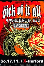 17-11-2019 Sick of it all & Comeback Kid & Cancer Bats | X-Herford