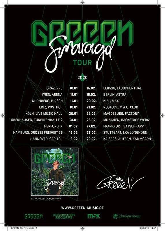 01-02-2020 GReeeN - Smaragd Tour | X Herford