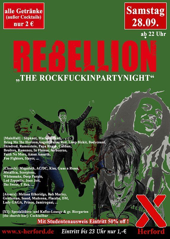 28-09-2019 Rebellion - the rockfuckinpartynight | X-Herford