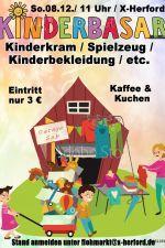 08-12-2019 Kinderbasar - Flohmarkt für Kinderbekleidung, Spielzeug uvm. | X-Herford