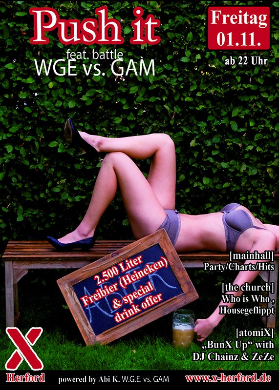 01-11-2019 Push it - WGE vs. GAM | X-Herford