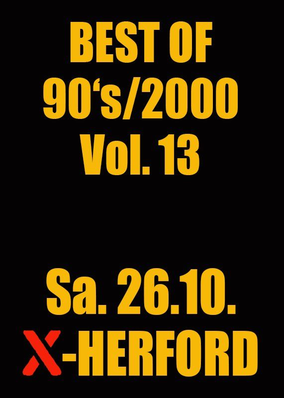 26-10-2019 Best of 90s/2000 Vol.13 | X-Herford