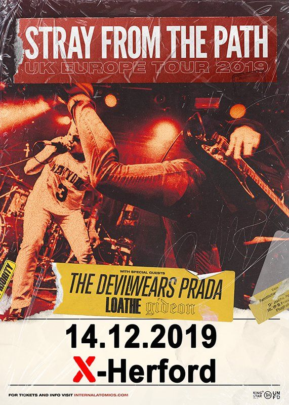 14-12-2019 Stray From The Path, The Devil Wears Prada | X-Herford