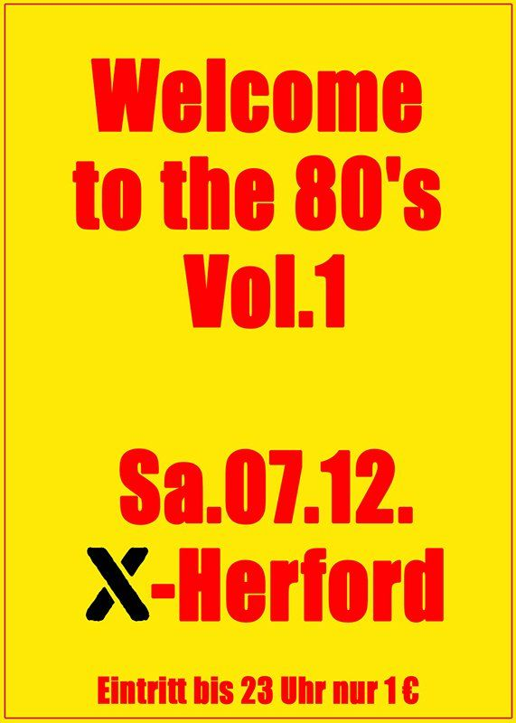 07-12-2019 Welcome to the 80s | X-Herford