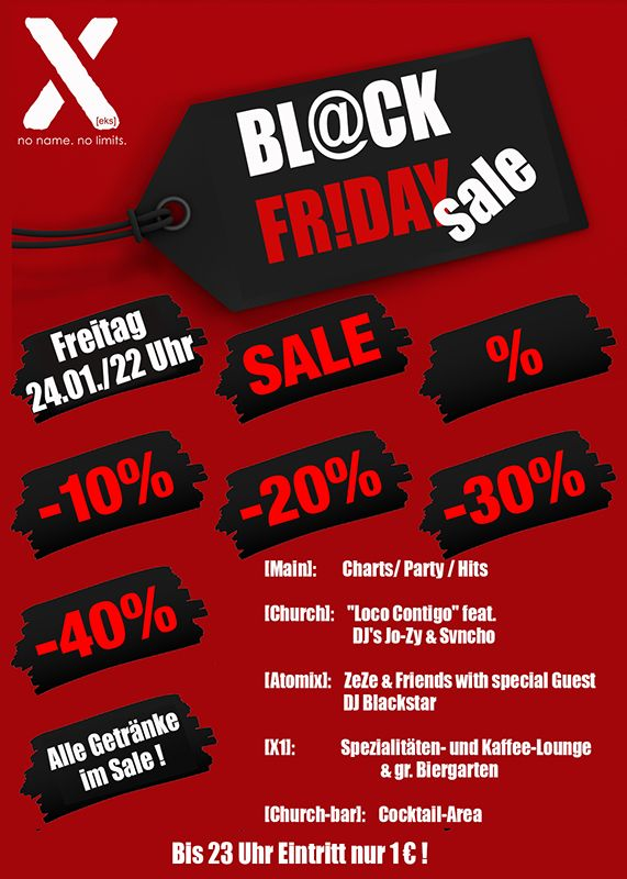 24-01-2020 BL@CK Fr!day SALE | X-Herford