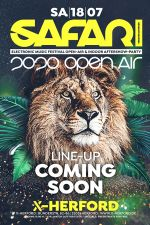 "18-07-2020 Safari 2020 ""Open Air"" & ""Indoor Aftershow"" Party 