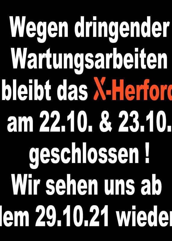 23-10-2021 geschlossen   X-Herford