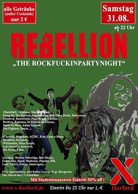 31-08-2019 Rebellion - the Rockfuckinpartynight | X-Herford