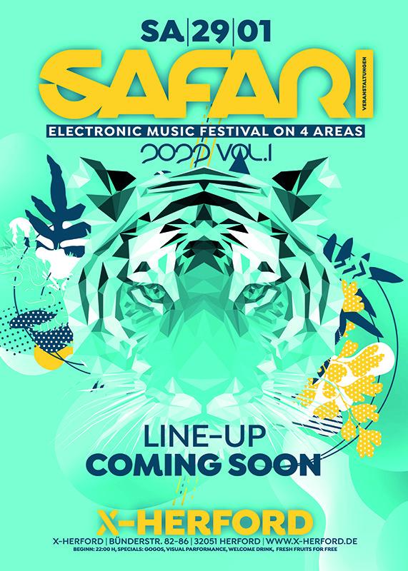 Safari 2022 Vol.1 Electronic Music Festival on 4 Areas